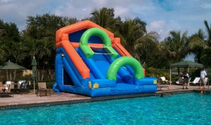 Check out the Thriller! Burn calories and ride the wave water slide pool with South Florida Bounce!